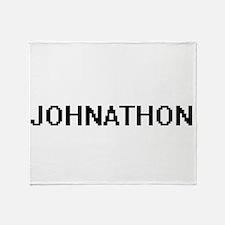 Johnathon Digital Name Design Throw Blanket