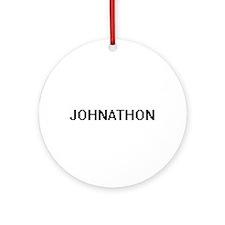 Johnathon Digital Name Design Ornament (Round)
