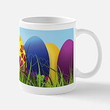 Happy Easter Coloured Eggs Mugs