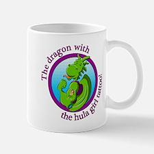 The dragon with the hula girl tattoo Mugs
