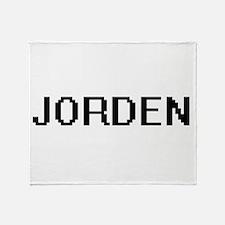 Jorden Digital Name Design Throw Blanket