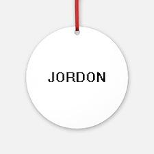 Jordon Digital Name Design Ornament (Round)