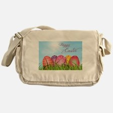 Happy Easter Decorated Eggs Messenger Bag