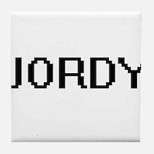 Jordy Digital Name Design Tile Coaster