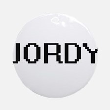 Jordy Digital Name Design Ornament (Round)
