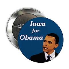 Iowa for Obama campaign button