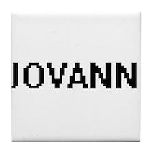 Jovanni Digital Name Design Tile Coaster