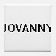 Jovanny Digital Name Design Tile Coaster