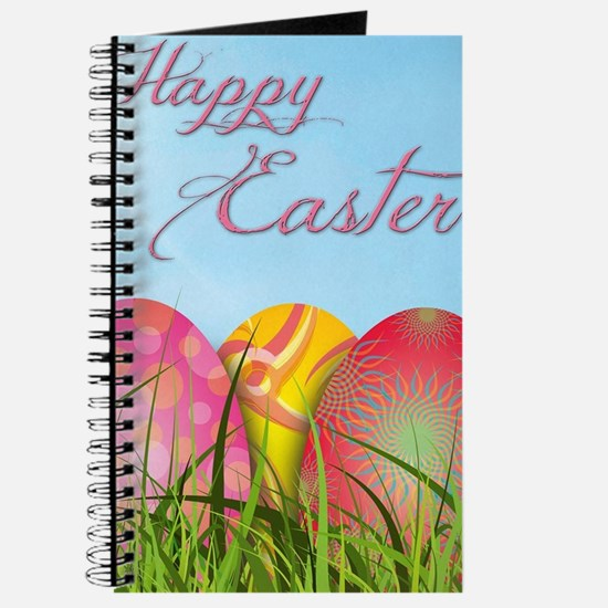 Happy Easter Decorated Eggs Journal