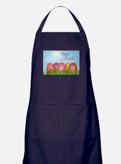 Happy Easter Decorated Eggs Apron (dark)