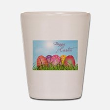 Happy Easter Decorated Eggs Shot Glass
