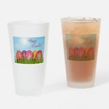 Happy Easter Decorated Eggs Drinking Glass
