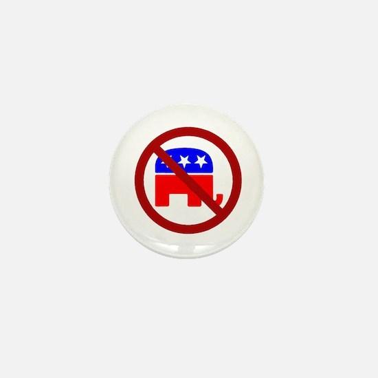 Anti-Elephant Mini Button