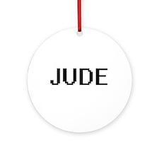 Jude Digital Name Design Ornament (Round)