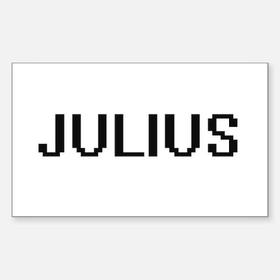 Julius Digital Name Design Decal