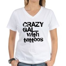 Crazy Gal With Tattoos T-Shirt