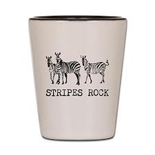 Stripes Rock Shot Glass