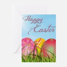 Happy Easter Decorated Eggs Greeting Cards