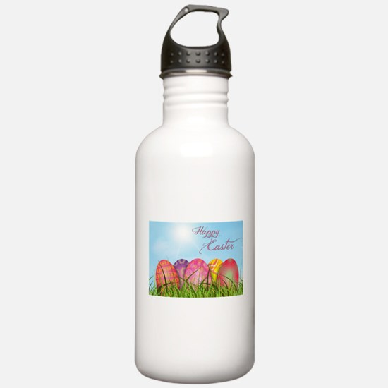 Happy Easter Decorated Sports Water Bottle