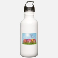 Happy Easter Decorated Water Bottle