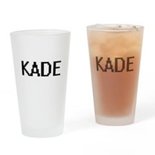 Kade Digital Name Design Drinking Glass