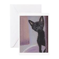 Blue-eyed kitten Greeting Card