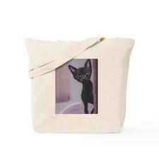 Blue-eyed kitten Tote Bag