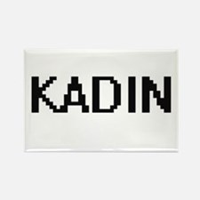 Kadin Digital Name Design Magnets