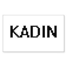 Kadin Digital Name Design Decal