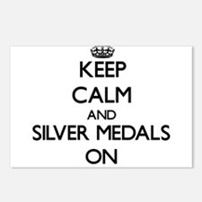 Keep Calm and Silver Meda Postcards (Package of 8)