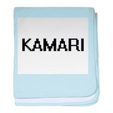 Kamari Digital Name Design baby blanket