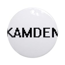 Kamden Digital Name Design Ornament (Round)