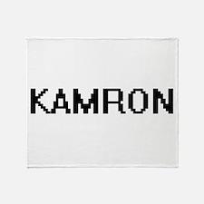 Kamron Digital Name Design Throw Blanket