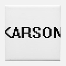 Karson Digital Name Design Tile Coaster
