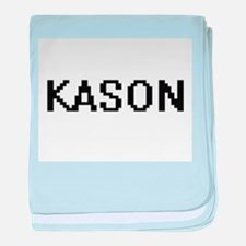 Kason Digital Name Design baby blanket