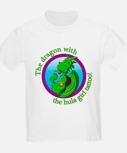 The dragon with the hula girl tattoo T-Shirt