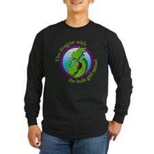 The dragon with the hula girl Long Sleeve T-Shirt