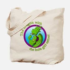 The dragon with the hula girl tattoo Tote Bag