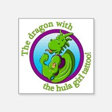 The dragon with the hula girl tattoo Sticker