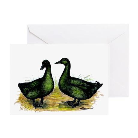 Cayuga Ducks Greeting Cards (Pk of 10)