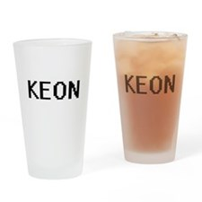 Keon Digital Name Design Drinking Glass