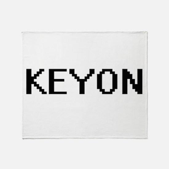 Keyon Digital Name Design Throw Blanket