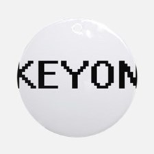 Keyon Digital Name Design Ornament (Round)