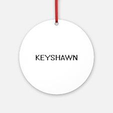 Keyshawn Digital Name Design Ornament (Round)
