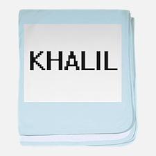 Khalil Digital Name Design baby blanket