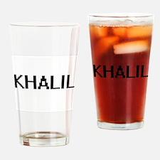 Khalil Digital Name Design Drinking Glass