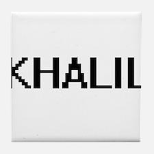 Khalil Digital Name Design Tile Coaster