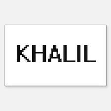 Khalil Digital Name Design Decal