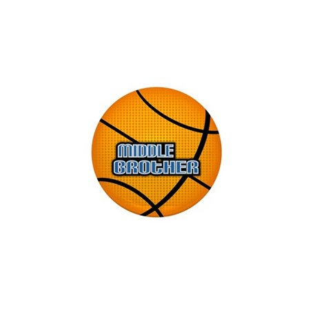 Middle Brother Basketball Mini Button (100 pack)