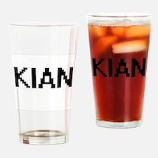 Kian Digital Name Design Drinking Glass